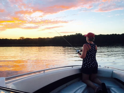 Shelli Fishing in the Sunset